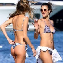 Alessandra Ambrosio sexy bikini candids on the beach in Ibiza 40x HQ photos