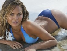 Chrissy Teigen nude topless bodypaint see through Sports Illustrated sexy Swimsuit 2015 photo shoot 27x HQ