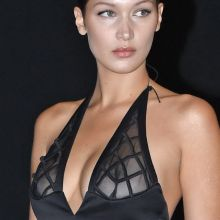 Bella Hadid in see through dress on Vogue's 95th Anniversary Party in Paris 27x UHQ