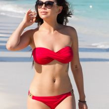 Janel Parrish wearing sexy bikini on the beach in Turks & Caicos Resort Villages & Spa in Providenciales 12x UHQ