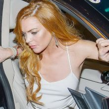 Lindsay Lohan sexy cleavage sideboobs at The White Party in Austria 22x UHQ