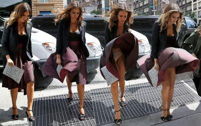 Jessica Alba Upskirt Candids in New York 9x HQ