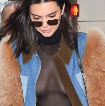 Kendall Jenner braless in see through top at L'Avenue restaurant 52x HQ photos