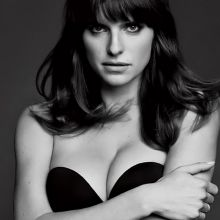 Lake Bell see through lingerie in Esquire magazine photo shoot 8x HQ