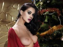 Katy Perry topless Merry Christmas card UHQ