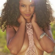 Ariel Meredith nude topless bodypaint see through Sports Illustrated sexy Swimsuit 2015 photo shoot 25x HQ