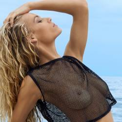 Hannah Ferguson topless see through spread legs for Sports Illustrated Swimsuit Issue 2017 8x UHQ ADDS