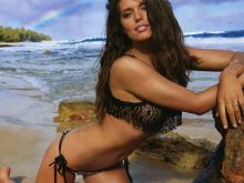 Emily Didonato nude topless bodypaint see through Sports Illustrated sexy Swimsuit 2015 photo shoot 34x HQ