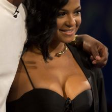 Christina Milian cleavage lingerie at Revolt TV studios in Hollywood 48x UHQ