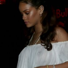 Rihanna braless in see through dress on Vogue's Anniversary Party in Paris 96x HQ