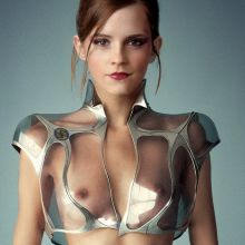 Emma Watson nude Harper's Bazaar magazine cover photo shoot UHQ