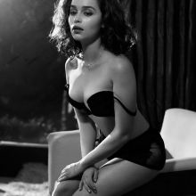Emilia Clarke nude, lingerie photo shoot for Esquire Magazine 2015 November 13x UHQ