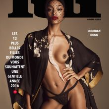 Jourdan Dunn nude Lui Magazine December 2015 issue 2x UHQ