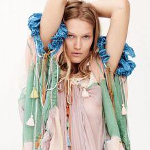 Toni Garrn braless in see through dress Philip Gay photo shoot 10x HQ photos