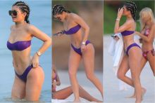 Kylie Jenner wearing sexy bikini on the beach in Punta Mita, Mexico 54x UHQ