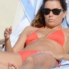 Eva Longoria wearing sexy bikini in Capri Italy 10x HQ