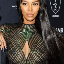 Jessica White braless in see through dress in amfAR Gala After-Party 6x MixQ