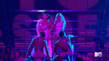 Ariana Grande, Nicki Minaj - MTV Video Music Awards 2016 720p sexy bodysuit on stage