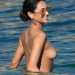 Shay Mitchell topless candids on the beach in Mykonos 48x UHQ photos