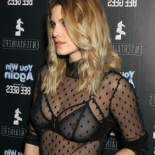 Ashley James pokies in see through top - You Win Again - the Story of the Bee Gees premiere nipple visible 78x HQ photos