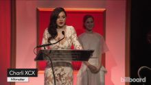 Charli XCX Accepts Hitmaker Honor - Billboard Women in Music 2014 nice boobs in see through dress