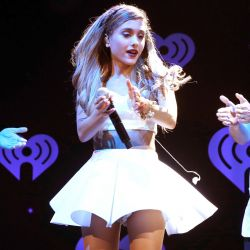 Ariana Grande upskirt 106.1 KISS FM's Jingle Ball 33x UHQ