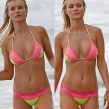 Joanna Krupa wearing sexy bikini on the beach in Malibu 17x UHQ