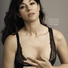 Monica Bellucci cleavage GQ Italia 2015 August issue 4x HQ
