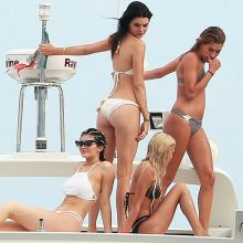 Kylie Jenner, Kendall Jenner with friends wearing sexy bikini on the boat in Punta Mita, Mexico 57x HQ