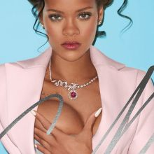 Rihanna braless in see through dress for CR Fashion Book HQ photo