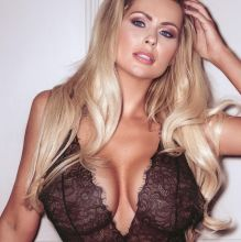 Nicola McLean pokies cameltoe in sexy see through lingerie photo shoot 6x UHQ photos
