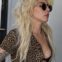 Lady Gaga nip slip boobs pop out at Berlin Schoenefeld airport 15x HQ photos