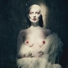Kate Moss topless by Paolo Roversi for W Magazine 2015 April 12x HQ
