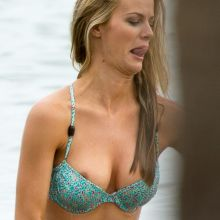 Brooklyn Decker nipslip at a bikini photoshoot on a beach in Miami 39x UHQ