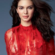 Kendall Jenner see through dress and bra nipring visible for Allure magazine October 2016 6x HQ photos
