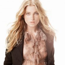Elsa Hosk see through for Guess 2016 Campaign hard nipple visible 16x HQ photos