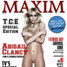 Abigail Clancy naked Maxim magazine cover 2015 June 2x UHQ
