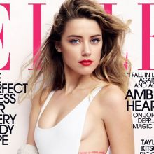 Amber Heard sexy Elle Magazine 2015 July 4x UHQ