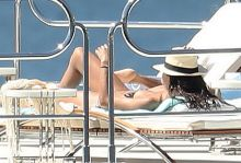Sara Sampaio nude topless sunbathing on a yacht in St Tropez  64x HQ photos