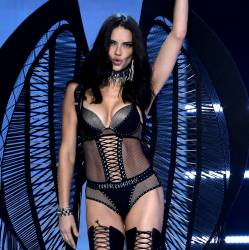 Adriana Lima sexy see through lingerie cameltoe 2017 Victoria's Secret Fashion Show 19x MixQ photos