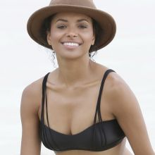 Kat Graham wearing sexy bikini at a beach in Jamaica 14x UHQ