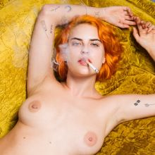 Tallulah Willis uncensored topless - Tyler Shields photo shoot 4x HQ photos