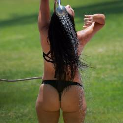 Kourtney Kardashian big ass in tiny bikini candids in Mexico 59x HQ photos