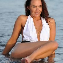 Jennifer Metcalfe ass in hot bikini in Ibiza 2015 October 10x MixQ