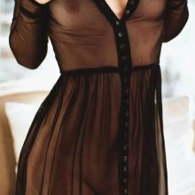 Selena Gomez braless pantyless in see through dress for Vogue magazine UHQ photo