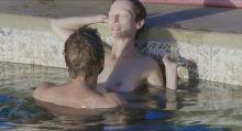 Dakota Johnson, Tilda Swinton - A Bigger Splash 1080p topless nude see through lingerie scenes
