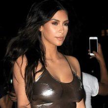 Kim Kardashian braless see through top at the Madison Square Garden New York 106x HQ photos ADDS