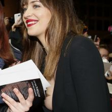 Dakota Johnson nip slip on Fifty Shades of Grey premiere in Berlin, Germany UHQ