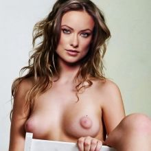 Olivia Wilde naked spread legs nude photo shoot show shaved pussy UHQ