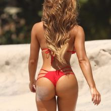Daphne Joy big boobs and ass in red bikini at the beach in Punta Mita 12x UHQ photos